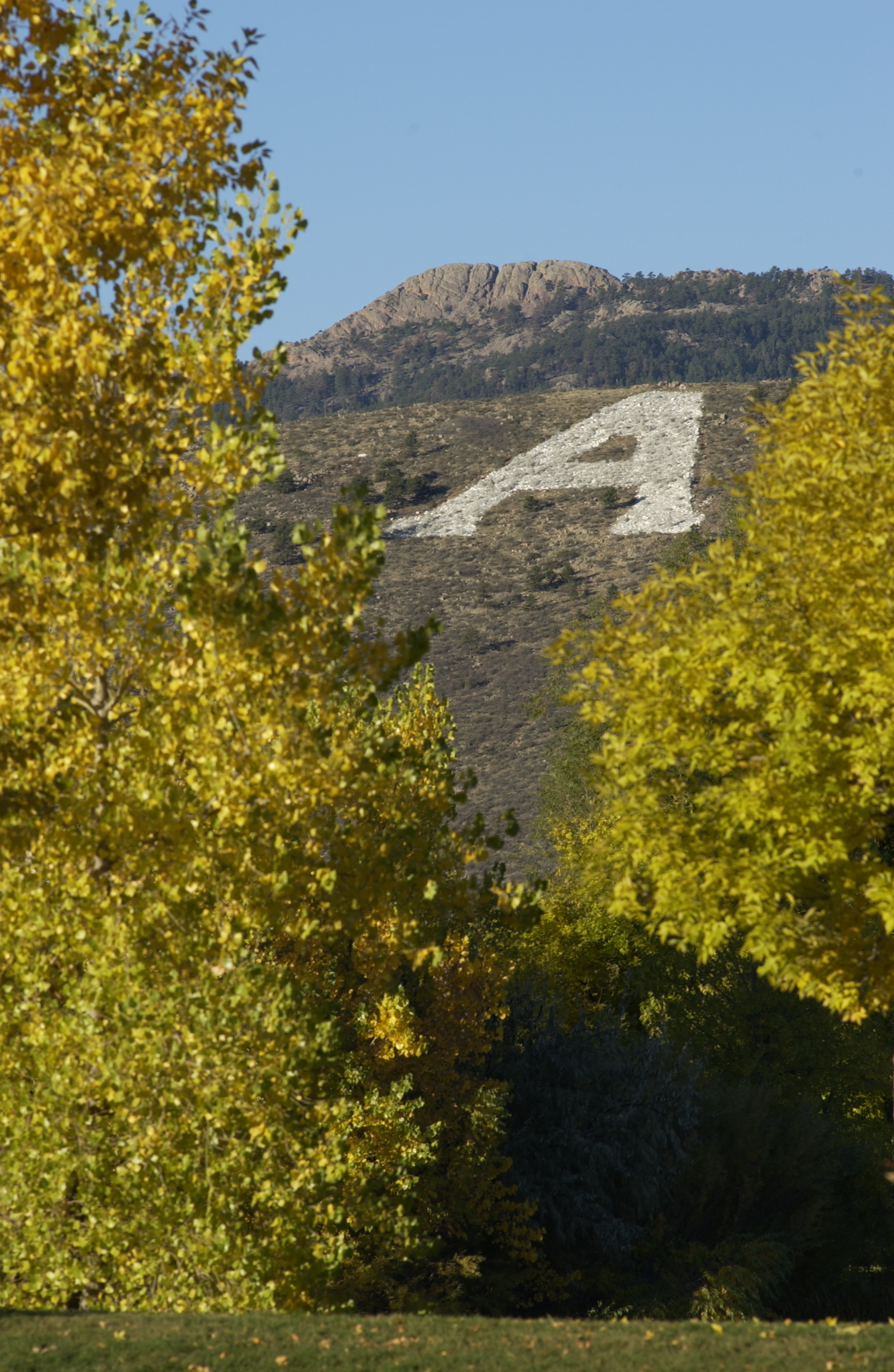The iconic A on the Foothills